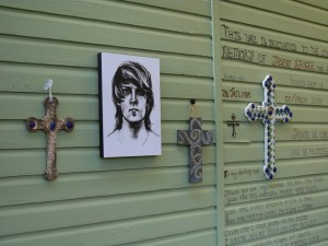 Jason` wall of Remembrance in the Memory Garden