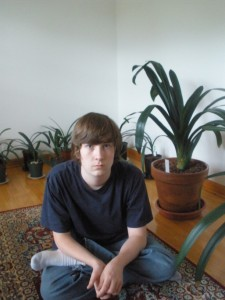 Simon in front of their clivias